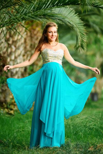 שמלת ערב הריון להשכרה