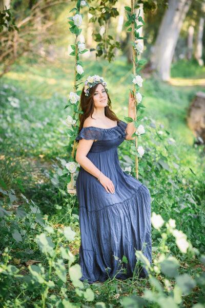 שמלה לצילומי בת מצווה להשכרה